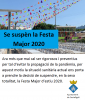 Se suspèn la Festa Major 2020